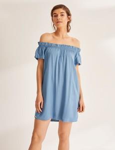Niebieska sukienka Diverse hiszpanka