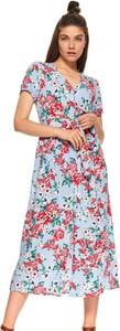 Sukienka Top Secret z dekoltem w kształcie litery v maxi prosta