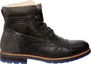 Buty zimowe S.Oliver z zamszu w stylu casual sznurowane