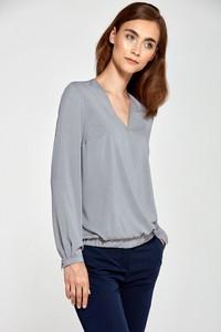Bluzka NIFE w stylu casual z długim rękawem