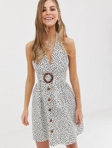 Sukienka Asos Design z dekoltem halter z lnu