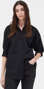 Czarna koszula Sinsay w stylu casual z długim rękawem