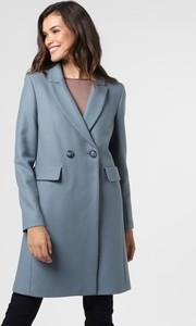 Niebieski płaszcz Apriori z wełny