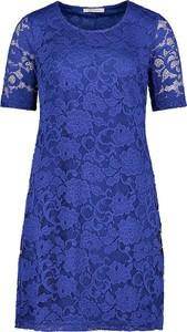 Niebieska sukienka Betty Barclay mini z krótkim rękawem