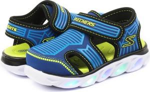 Buty dziecięce letnie Skechers na rzepy w paseczki