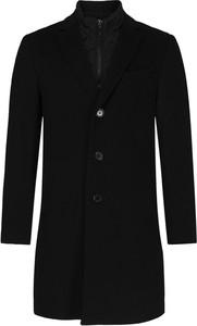 Czarny płaszcz męski Sand z wełny