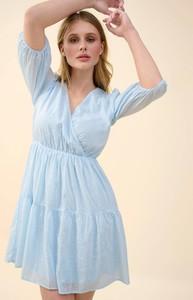 Niebieska sukienka ORSAY z długim rękawem