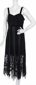 Czarna sukienka Foxiedox maxi na ramiączkach