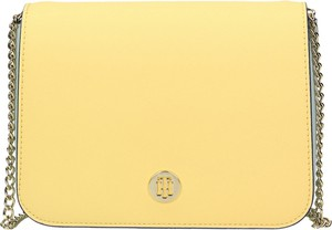 Żółta torebka Tommy Hilfiger ze skóry ekologicznej na ramię