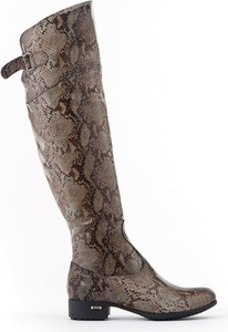 Kozaki Zapato w militarnym stylu przed kolano ze skóry