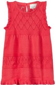 Czerwona sukienka dziewczęca name it