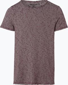 Czerwony t-shirt Review z krótkim rękawem