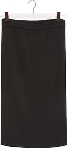 Czarna spódnica Stefanel midi z bawełny