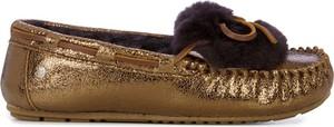 Brązowe półbuty Emu Australia w stylu casual