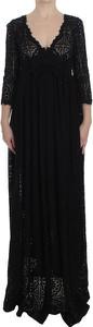 Sukienka Dolce & Gabbana z długim rękawem maxi