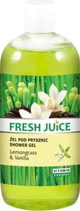 Fresh Juice, żel pod prysznic, trawa cytrynowa i wanilia, 500 ml