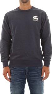 Niebieski sweter G-star z okrągłym dekoltem