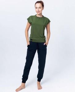Zielony t-shirt Reezy z dżerseju