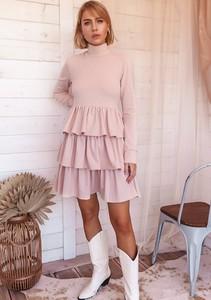 Sukienka Latika mini wyszczuplająca z długim rękawem
