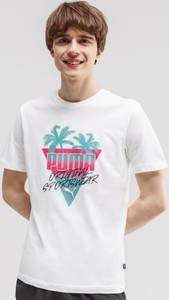 T-shirt Puma z krótkim rękawem w sportowym stylu z nadrukiem