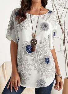 Bluzka Cikelly z okrągłym dekoltem z krótkim rękawem