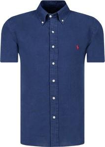 Koszula POLO RALPH LAUREN w stylu casual z lnu z krótkim rękawem
