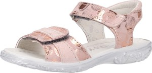 Różowe buty dziecięce letnie Ricosta ze skóry na rzepy
