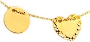 Lovrin Złoty naszyjnik 333 celebrytka serce kółko 8kt