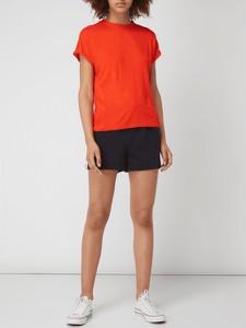 Czerwona bluzka Noisy May z krótkim rękawem