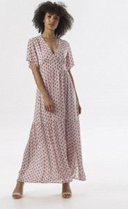 Sukienka born2be maxi z dekoltem w kształcie litery v w stylu casual