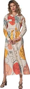 Sukienka Figl maxi z długim rękawem w stylu casual