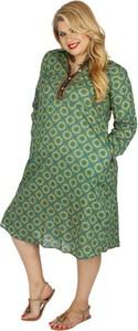 Zielona sukienka Aller Simplement z bawełny w stylu casual