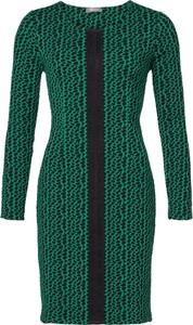 Zielona sukienka GEISHA mini z okrągłym dekoltem
