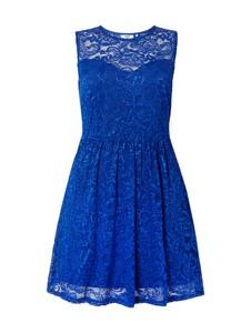 Niebieska sukienka ONLY Carmakoma z okrągłym dekoltem midi