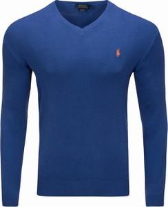 Niebieski sweter Ralph Lauren w stylu casual z bawełny