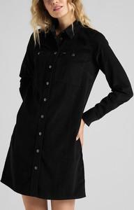 Sukienka Lee mini z długim rękawem z bawełny