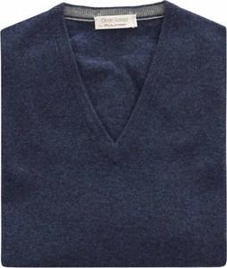 Niebieski sweter Gran Sasso w stylu casual