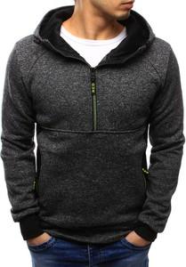 Dstreet bluza męska z kapturem grafitowa (bx3435)
