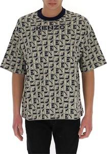 T-shirt Kenzo z nadrukiem z krótkim rękawem w młodzieżowym stylu