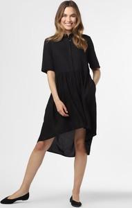 Czarna sukienka Y.A.S koszulowa midi