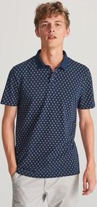 Granatowa koszulka polo Reserved