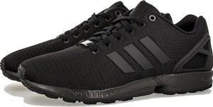 Czarne buty sportowe Adidas w sportowym stylu zx flux sznurowane