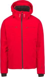 Czerwona kurtka Descente z tkaniny krótka