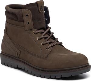 Brązowe buty zimowe Wrangler sznurowane