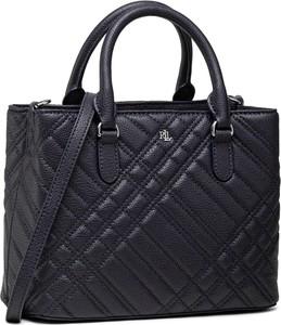Czarna torebka Ralph Lauren lakierowana