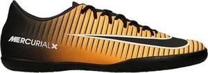 Pomarańczowe buty sportowe Nike mercurial ze skóry