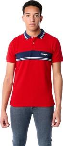 Czerwony t-shirt Wrangler z krótkim rękawem z bawełny