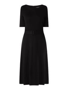 Czarna sukienka Esprit z dżerseju z krótkim rękawem