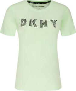 T-shirt DKNY z krótkim rękawem w młodzieżowym stylu z okrągłym dekoltem