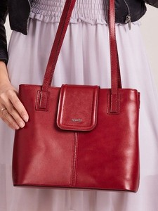 Czerwona torebka Rovicky duża na ramię